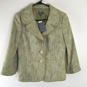 Ann Taylor classy 2 PEICE tweed skirt suit outfit